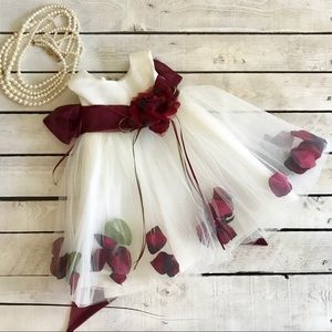 Other - Baby and Flower Girl Tulle and Rose Petal Dress.